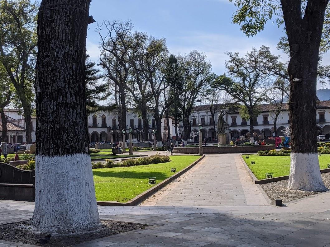 Pátzcuaro main plaza