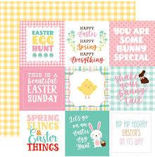 Echo Park Easter Wishes Cardstock 12X12 - 4X4 Journaling Cards UTGÅENDE