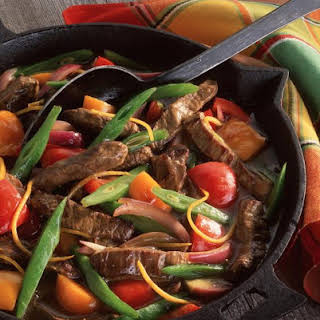 Beef with Beans and Peppers.