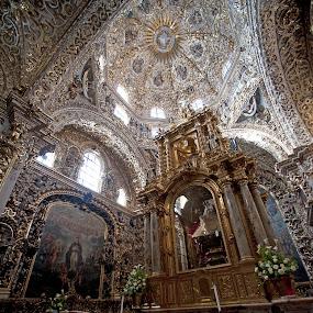 Church  in Puebla by Cristobal Garciaferro Rubio - Buildings & Architecture Places of Worship ( church, mexico, puebla, downtown at puebla )
