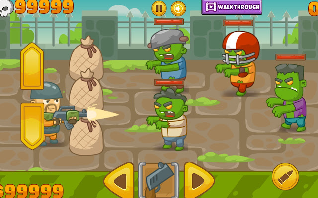 Zombie Defense - WebGL Game