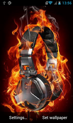 Headphones on fire Live WP