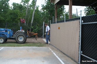 Photo: David Hannah Photo HALS 2009-0815   Doug Blodgett with the new gate open