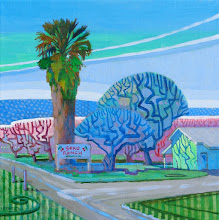 "Photo: ""Seko Ranch"", acrylic on canvas, 12"" x 12"", by Nancy Roberts, copyright 2015."