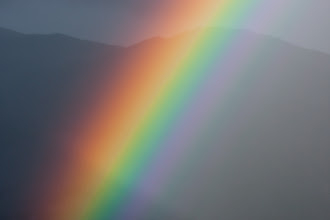 Photo: Since I just had my 300 mm lens with me, this is the only rainbow picture I could get.