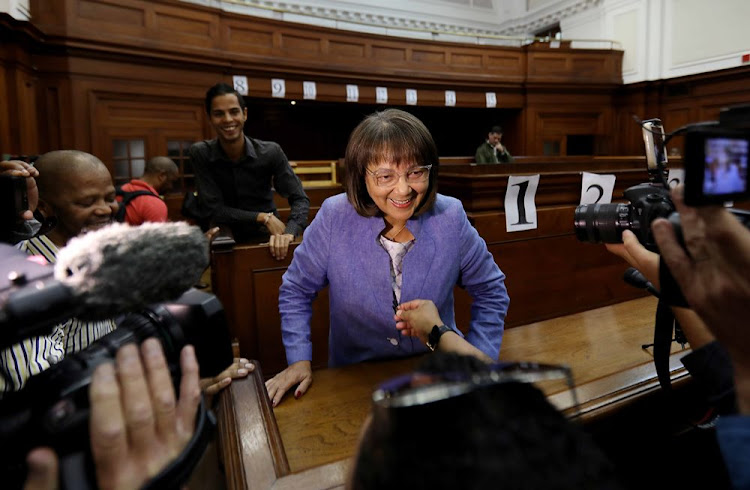 Mayor of Cape Town Patricia de Lille at the Western Cape High Court on May 15 2018. Picture: ESA ALEXANDER