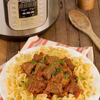 Pressure Cooker Hungarian Beef Goulash Recipe