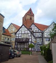 Photo: Fachwerk im Hinterhof