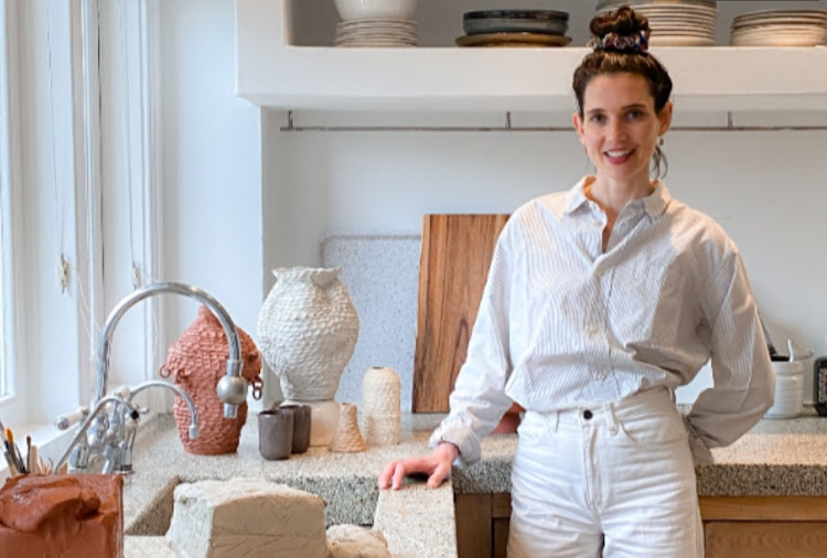 Ceramic artist Ceri Müller in her new home in Amsterdam.