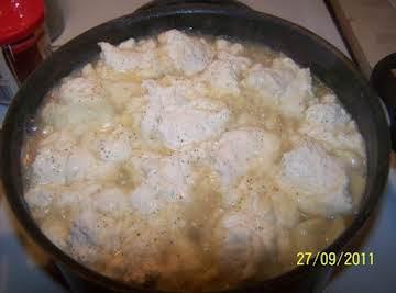 Homemade Chicken n Noodles with Dumplings