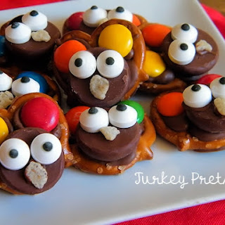 Chocolate Turkey Pretzels