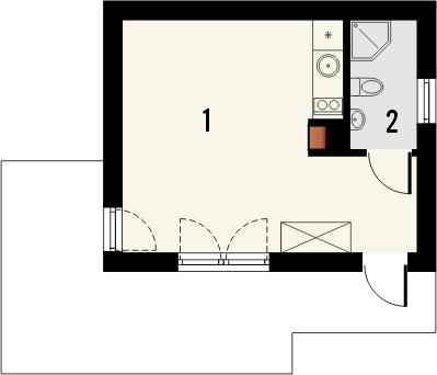 Domek 5 - Rzut parteru