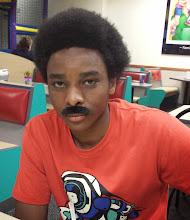Photo: Miles completey rockin' the fack mustache
