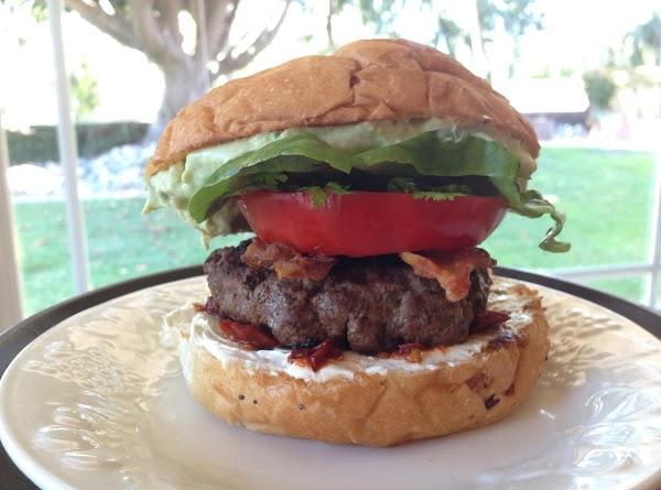 Chipotle Cream Cheese Bacon Burger Recipe