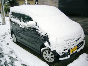 Photo: 車にも10cmの雪が!!