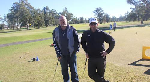 Narrabri RSL chief executive Paul Gordon and Matt Stieger.