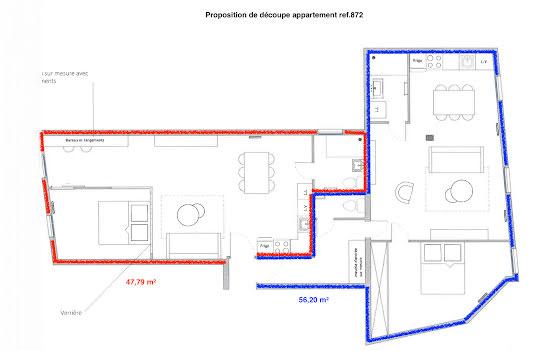 Vente appartement 3 pièces 103,73 m2