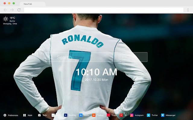 Ronaldo HD New Tabs Popular Football Themes