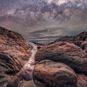 Coastal Rocks by Greg Tennant - Landscapes Starscapes ( stars, rocks, coastal, milky way, galaxy )