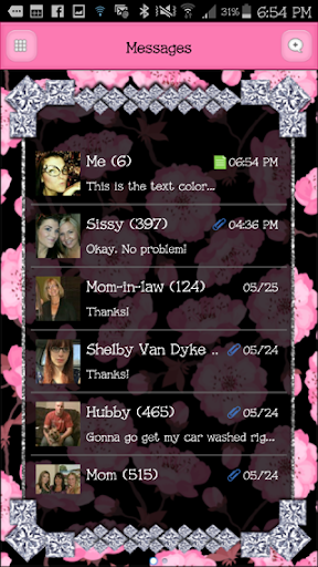 GO SMS - DivineDiamonds2