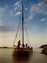 Photo: The sloop Phyllis arrives