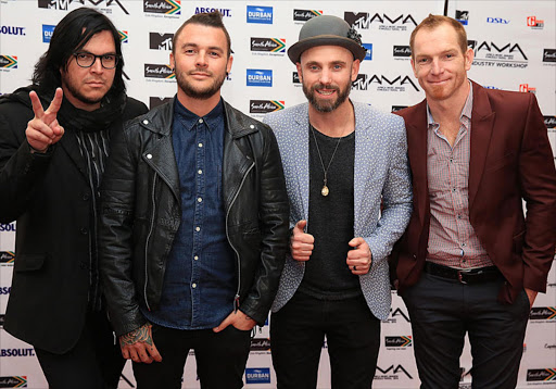 The Parlotones at the MTV Africa Music Awards in Durban. Photo: Thuli Dlamini