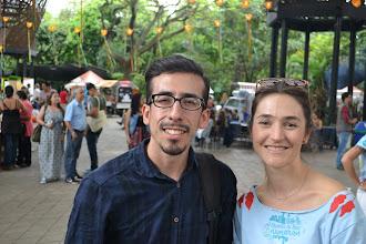 Photo: Clara y César Moreno felices
