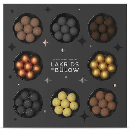 Winter selection box 2020 – D, F, Classic, Gold, Snowball, Christmas, Twisted banana, Crispy caramel - Lakrids by Bülow