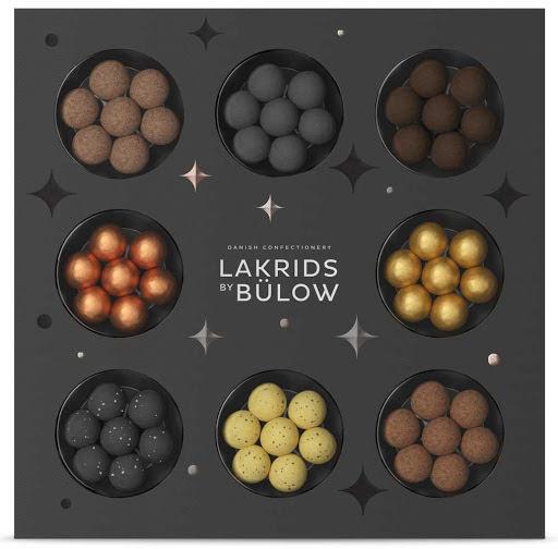 Winter selection box 2020 – D, F, Classic, Gold, Snowball, Christmas, Twisted banana, Crispy caramel - Lakrids by Bülow