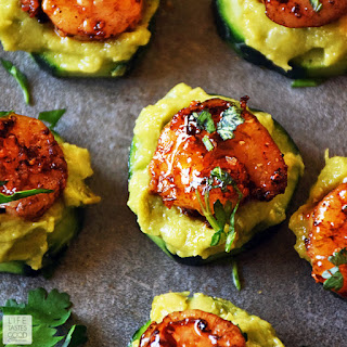 Cucumber Bites with Creole Shrimp and Guacamole Recipe