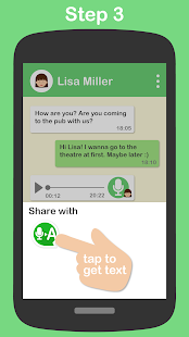 Textr - Voice Message to Text: miniatura de captura de pantalla