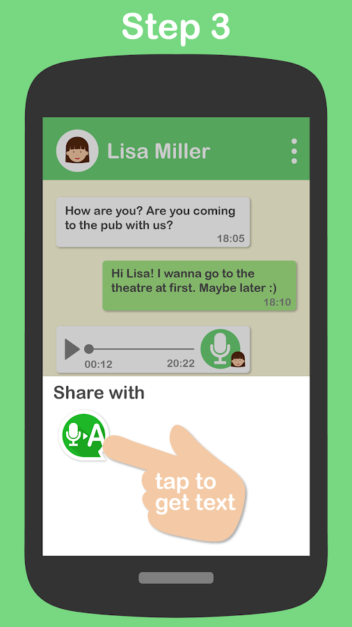 Textr - Voice Message to Text: captura de pantalla