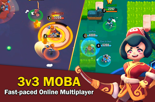 Heroes Strike - 3v3 Moba Brawl Shooting  captures d'écran 1