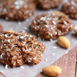 Healthy Almond Joy No-bake Cookies.