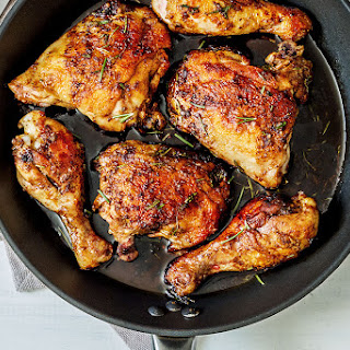 Balsamic Honey Skillet Chicken Legs.
