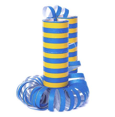 Serpentiner, blå/gul 2 st