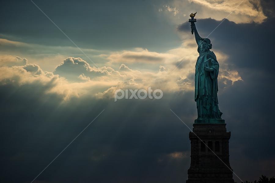 Statue of Liberty by Jay Andrino - Travel Locations Landmarks ( liberty, landmark, famous landmarks, statue of liberty, statue, monument, new york, liberty island )
