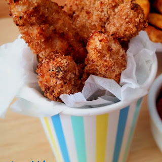 Healthy Baked Crispy Chicken Strips.