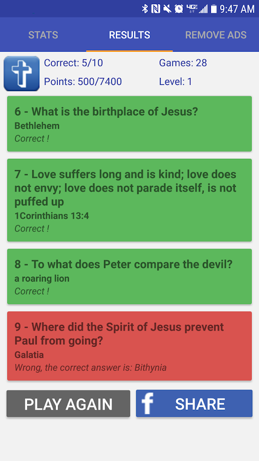 Bible Trivia- screenshot