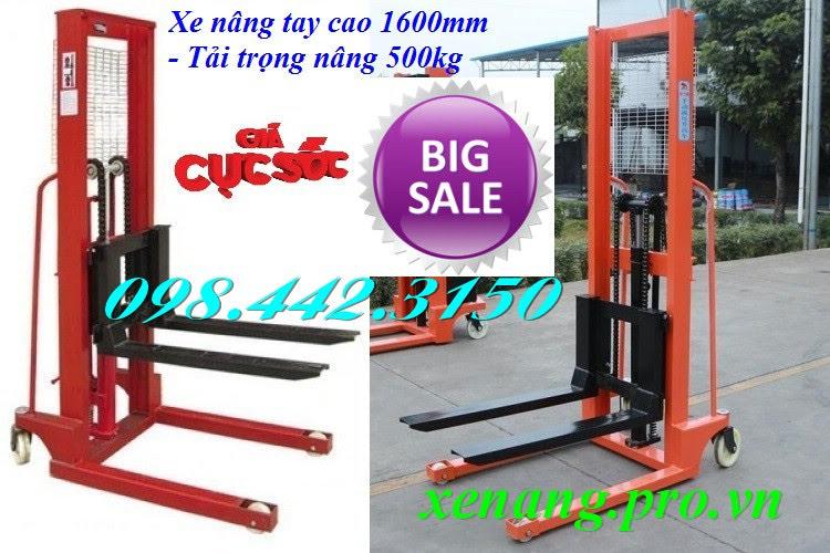 Xe nâng tay 500kg cao 1.6m