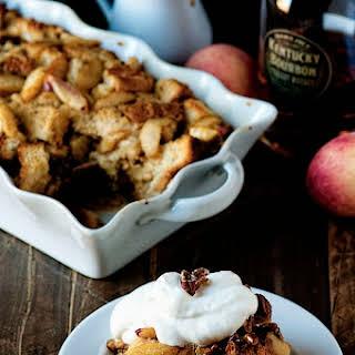 Bourbon Peach Bread Pudding.