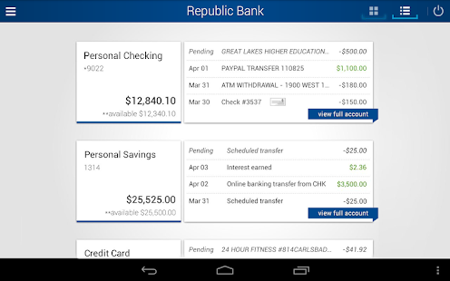 Republic Bank Mobile Banking- screenshot thumbnail