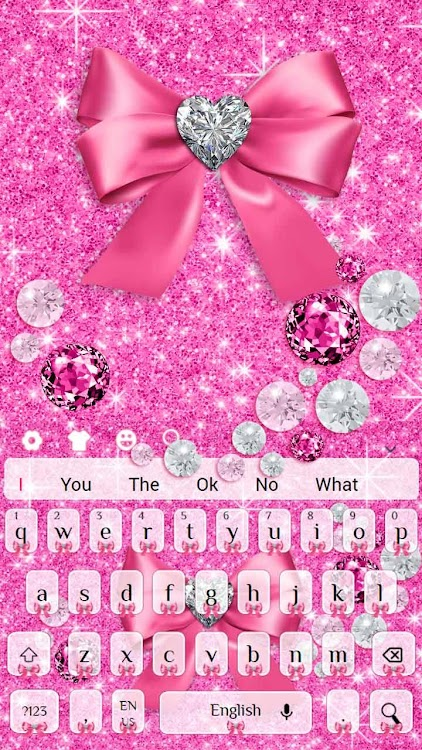 Pink Diamond Bow Keyboard Theme – (Android Apps) — AppAgg