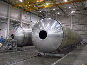 Photo: The Falcon 9 first stage on the factory floor in October 2008
