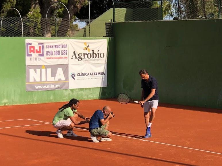 Henri Leconte en el Club de Tenis de Almería.