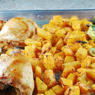 Maple Balsamic Roast Chicken Sheet Pan Dinner