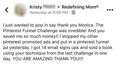 Pin Practical Ads testimonial