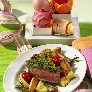Herbed Lamb Chops with Caramelized Vegetables