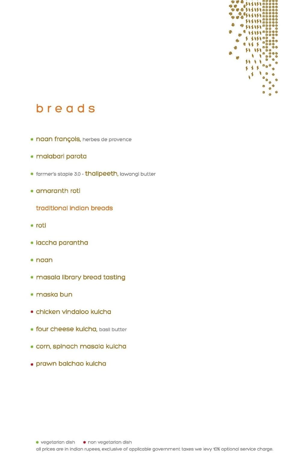 Masala Library menu 5