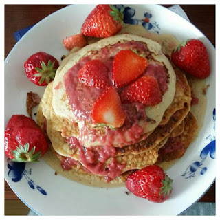 Strawberry Pancakes With Strawberry Syrup(homemade)
